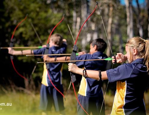 Bribie Island SHS: Training der Bogenschützen