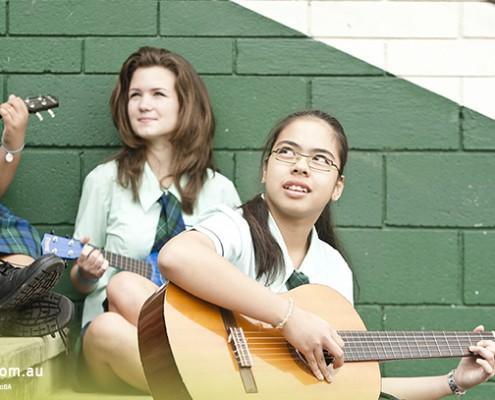 Craigslea SHS: Schüler bei musizieren