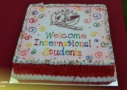 Kirwan SHS: Willkommensgruß für die internationalen Schüler