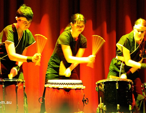 Pimplico SHS: Percussions-Gruppe