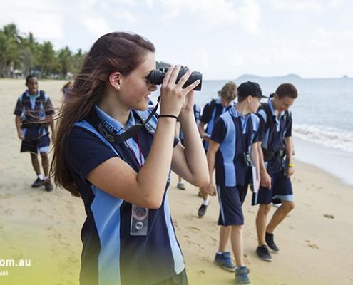 Smithfield SHS: Strandgang der Meeresbiologiegruppe