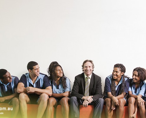 Smithfield SHS: Lehrer mit Schülern