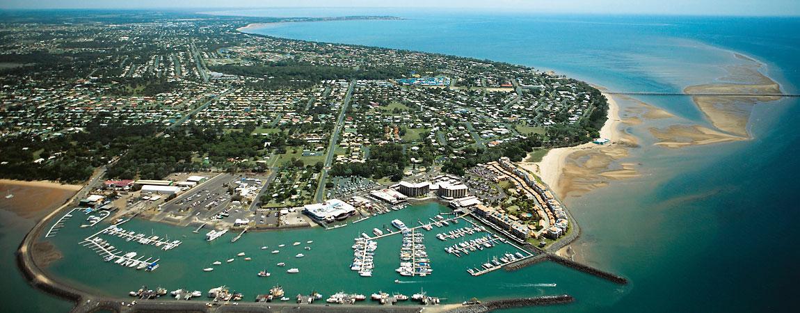 Hervey Bay aus der Luft