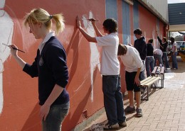 Mount Gambier HS: Community Mural Painting