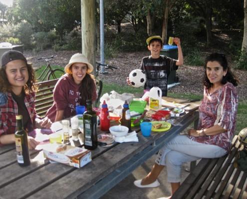 Nicole mit ihrer Gastfamilie
