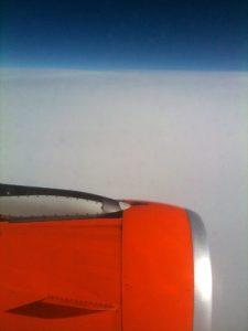 Rote Flugzeugdüse